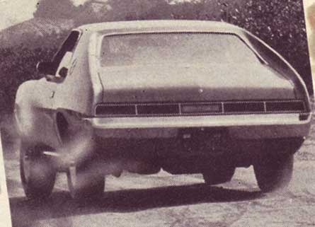 Tail view of a 1969 AMC Javelin AMX