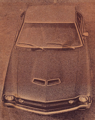 Top front view of a 1969 AMC Javelin AMX