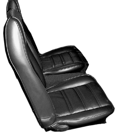 1971 Boss 351 Mustang black leather front seats