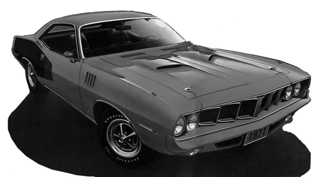 1971 Plymouth Barracuda.