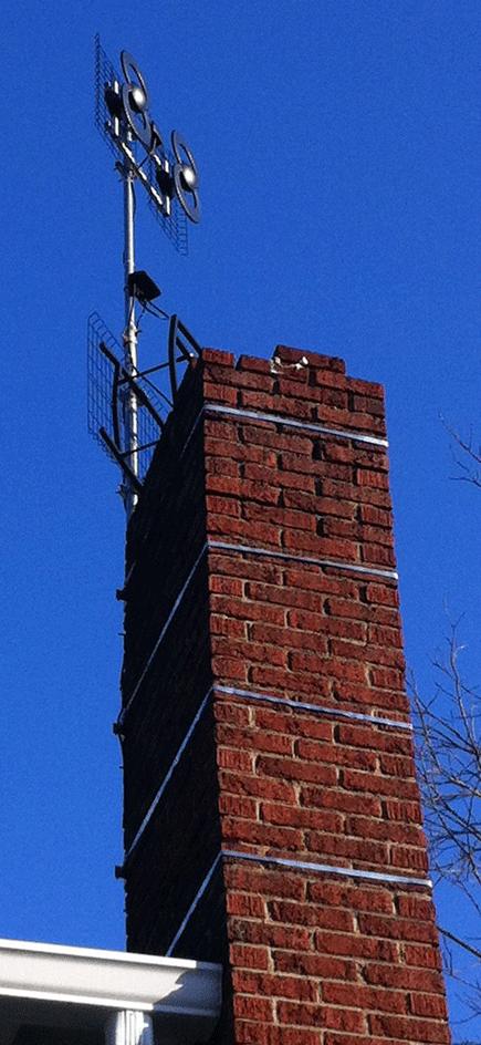 Chimney Mount Antenna Straps