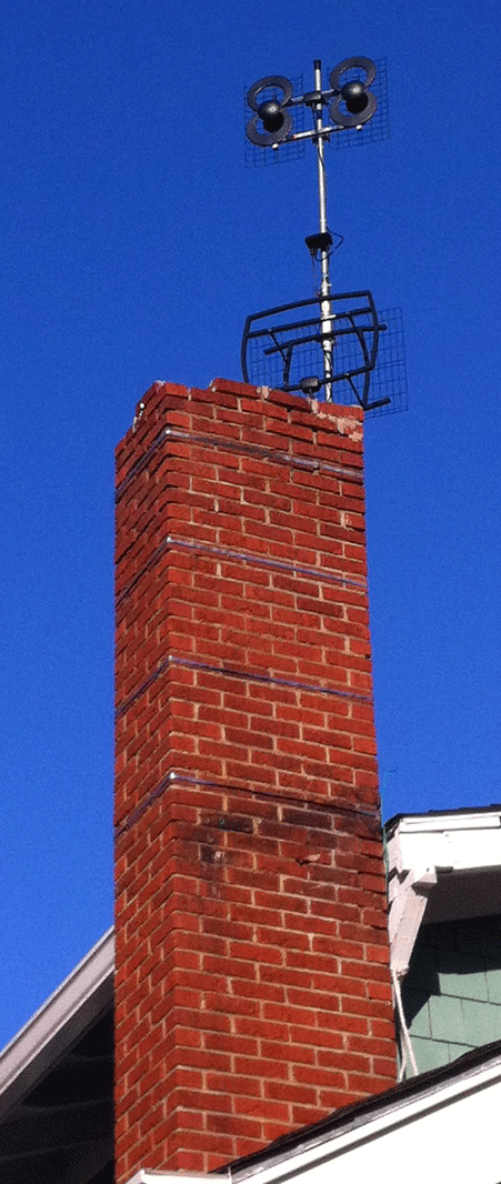 Chimney Mounted Antennas Direct Clearstream 4 And 5 Antennas And  Antennacraft 10G222 Preamplifier