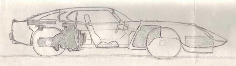 More super car concept sketches: rear engine car diagram at sanghur.org
