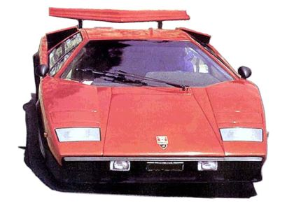 Image of a Lamborghini Countach supercar