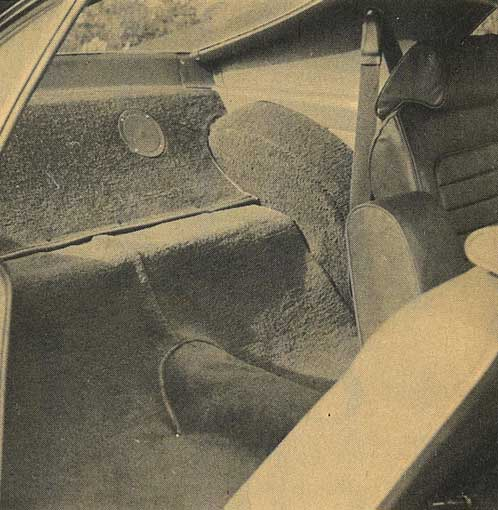 Rear interior of an AMC Javelin AMX
