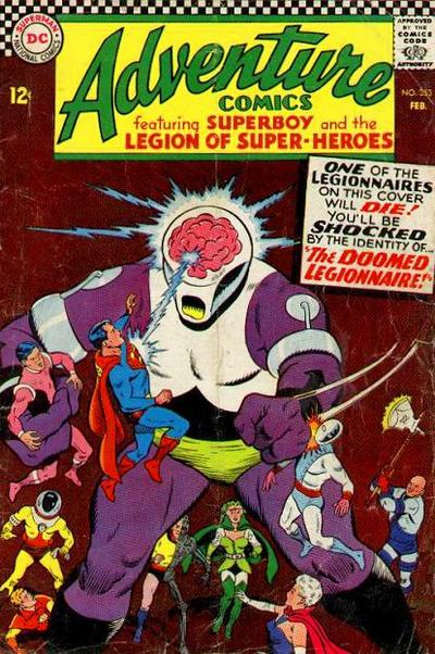 DC Adventure Comics featuring Superboy and the Legion of Super-Heroes versus the Fatal Five