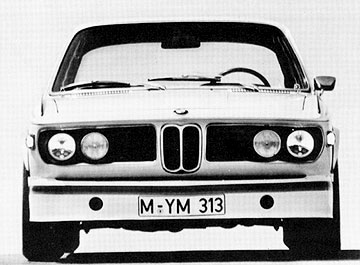 Front view of 1973 BMW 3.0CSL Batmobile