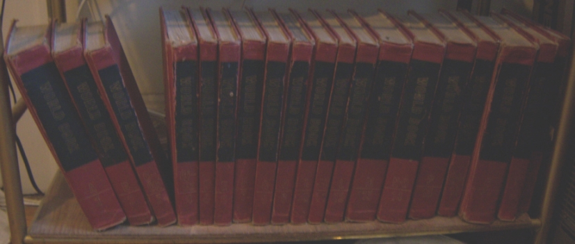 original red world book encyclopedia set