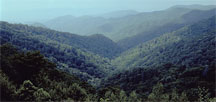 Smoky Mountains scenic overlook