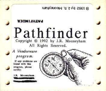 Pathfinder's floppy disk labels