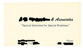 Special Solutions for Special Problems business card