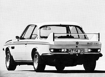 Rear three-quarter view of 1973 BMW 3.0CSL Batmobile