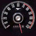 Maxed out or buried needle speedometer