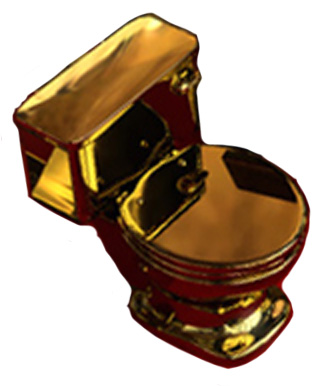 Solid gold toilet for the rich