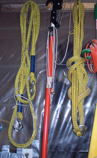 Photo of actual tow ropes used by real life super car driver.