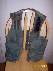 The first scramble vest used in the Shadowfast supercar (military surplus)